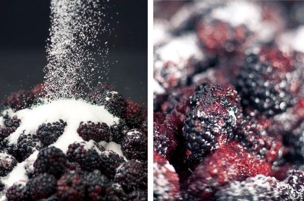 Brombeeren mit Zucker