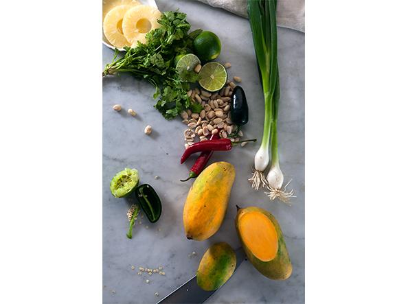 Zutaten Mangosalsa mit Erdnüssen