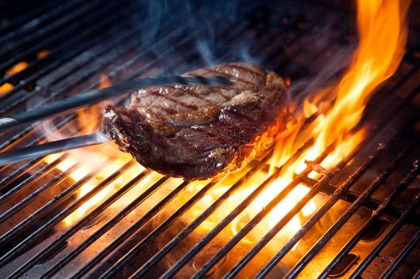 Steak bei Markmanns auf dem Grill