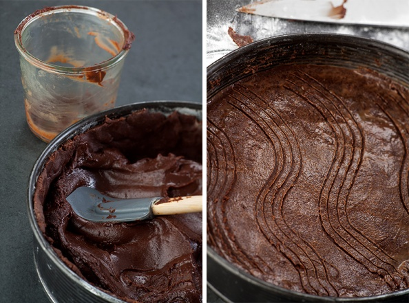 gefüllter Schokoladenkuchen, step by Step